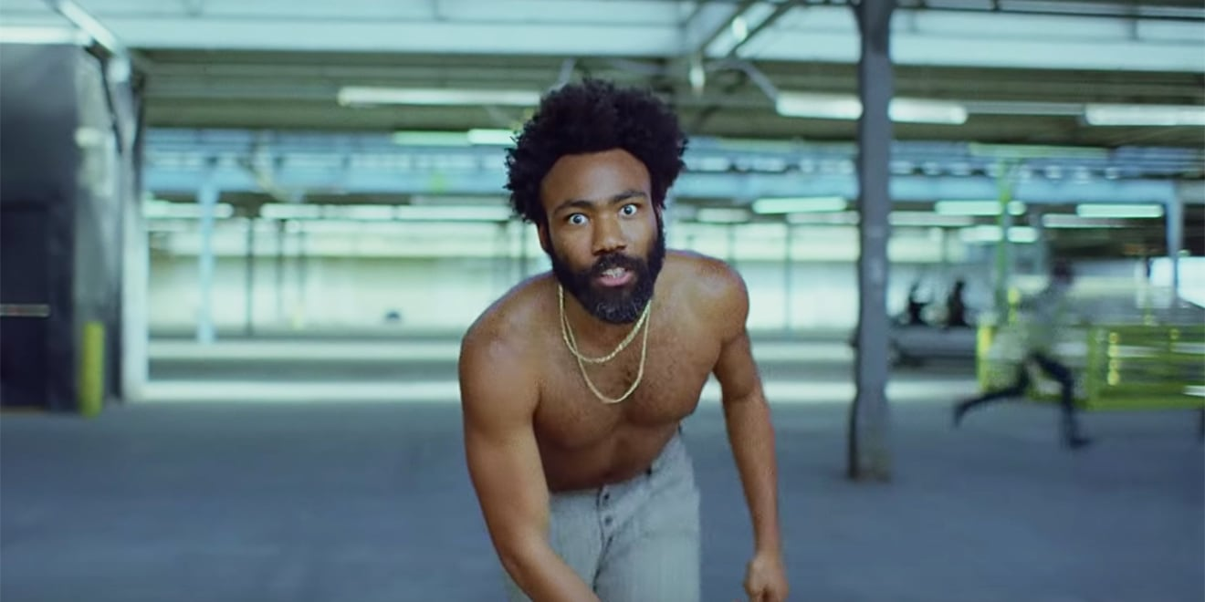 This shot features Donald Glover of Childish Gambino in his music video for 'This Is America.'