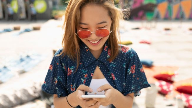 Young girl on phone for story about Gen Z, Snapchat and Cannes
