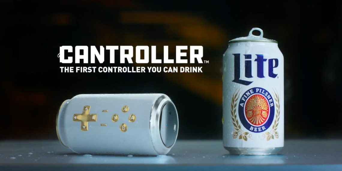 Cantroller, the Miller Lite video game controller can