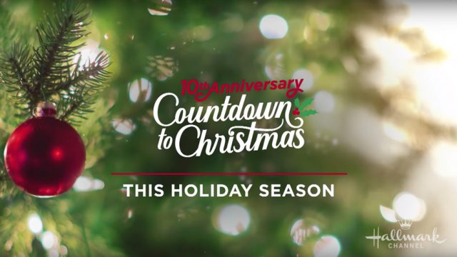 Hallmark Countdown to Christmas title card for story on Hallmark's TV ratings.
