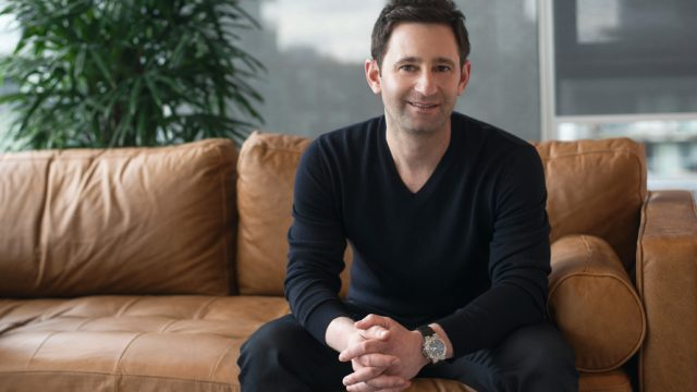 Headshot of Shopify CMO Jeff Weiser for a Q&A.