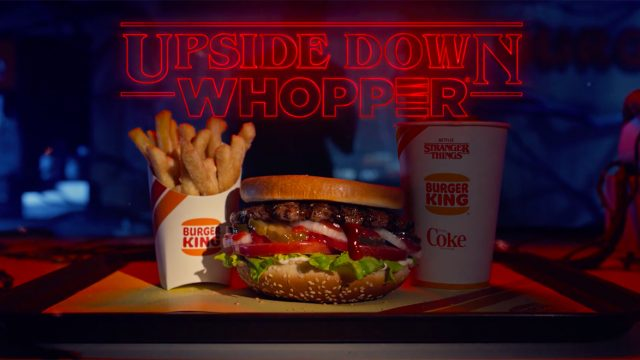 Burger King's Upside Down Whopper promoting Stranger Things