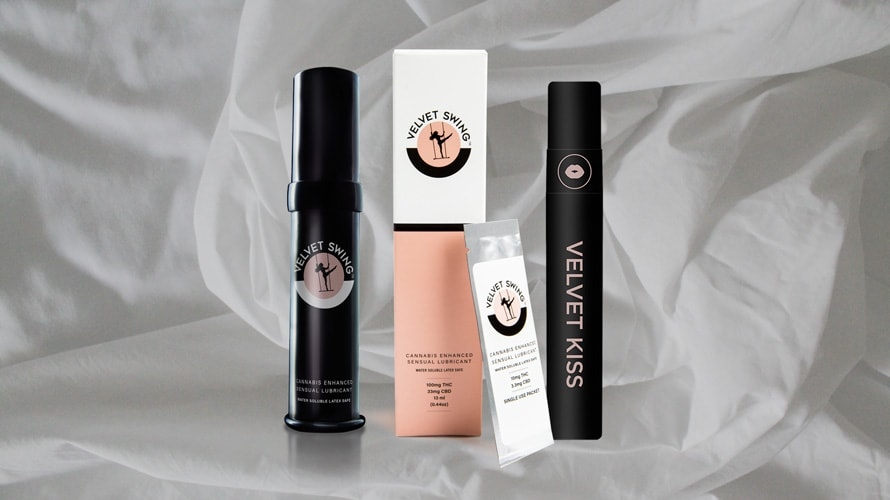 four velvet swing products and one of them reads velvet kiss