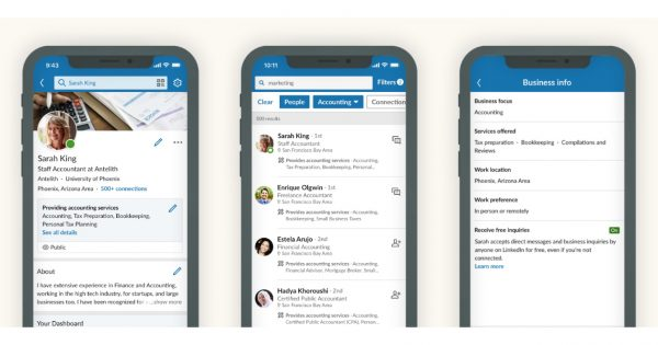 LinkedIn Is Letting Small Businesses and Freelancers Detail the Services They Provide