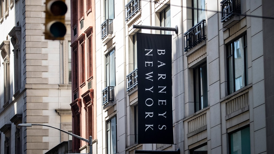 Barney's New York sign on building