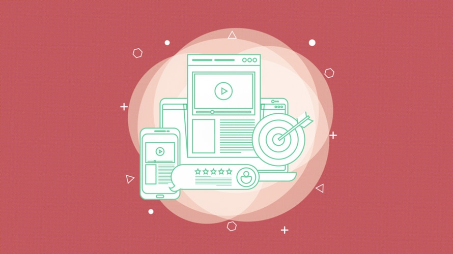 illustration of devices about ad targeting