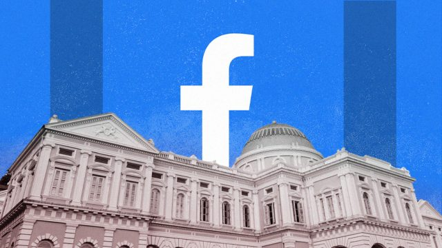 Facebook logo behind the White House.