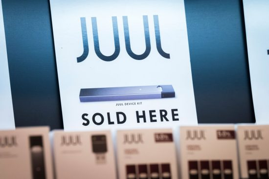 Sales sign for Juul