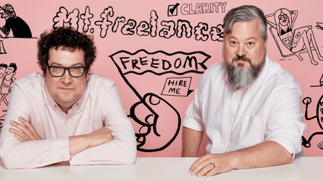 Andrew Dickson and Aaron James, Mt. Freelance founders