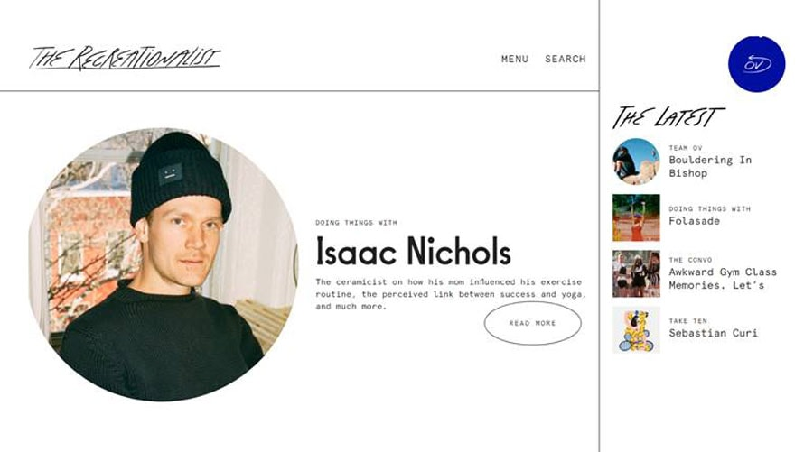 An excerpt of a profile on Isaac Nichols for Outdoor Voices' content platform The Recreationalist