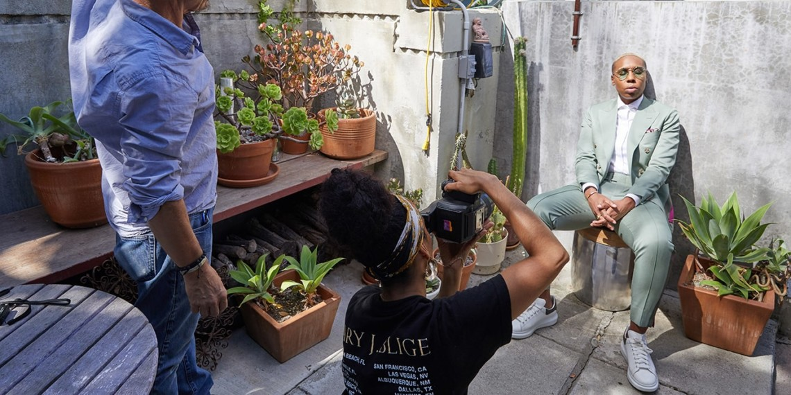 Lelanie Foster photographing Lena Waithe for Adweek