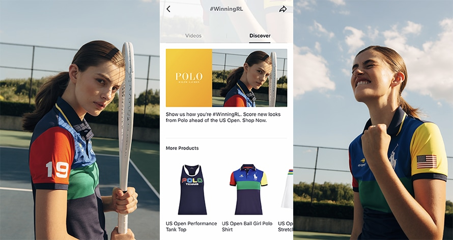 U.S. Open-branded Ralph Lauren apparel