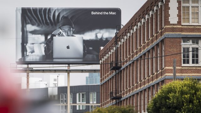 Billboard advertisement for Apple