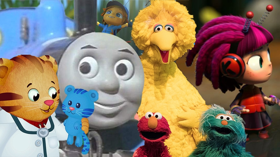 daniel tiger's neighborhood, sesame street, big bird, elmo, thomas the train