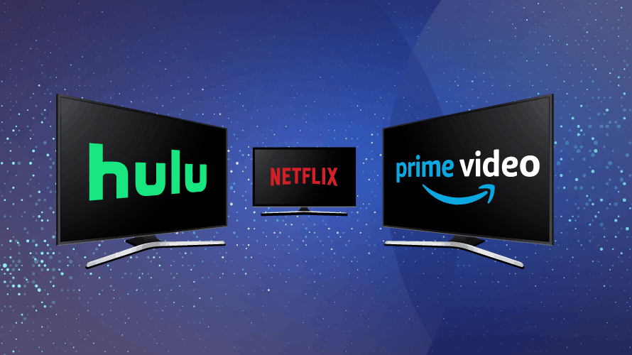 hulu netflix amazon prime video logos screens subscription ott services