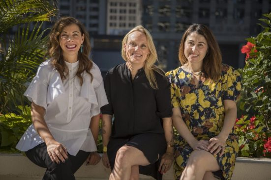 Leo Burnett global CCO Liz Taylor; Chicago CCO Jordan Doucette; Chicago president and chief strategy officer Emma Montgomery