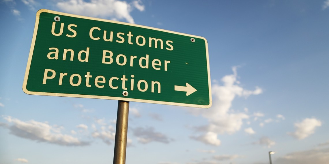 U.S. Customs and Border Protection sign