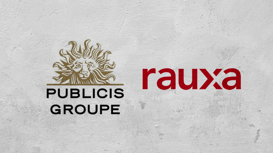 Publicis Groupe and Rauxa logos