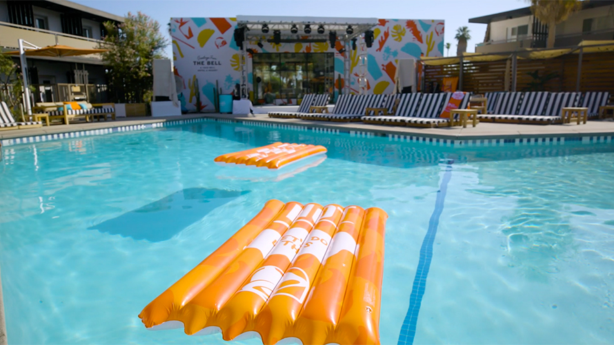 The Taco Bell Hotel featured hot sauce floats.