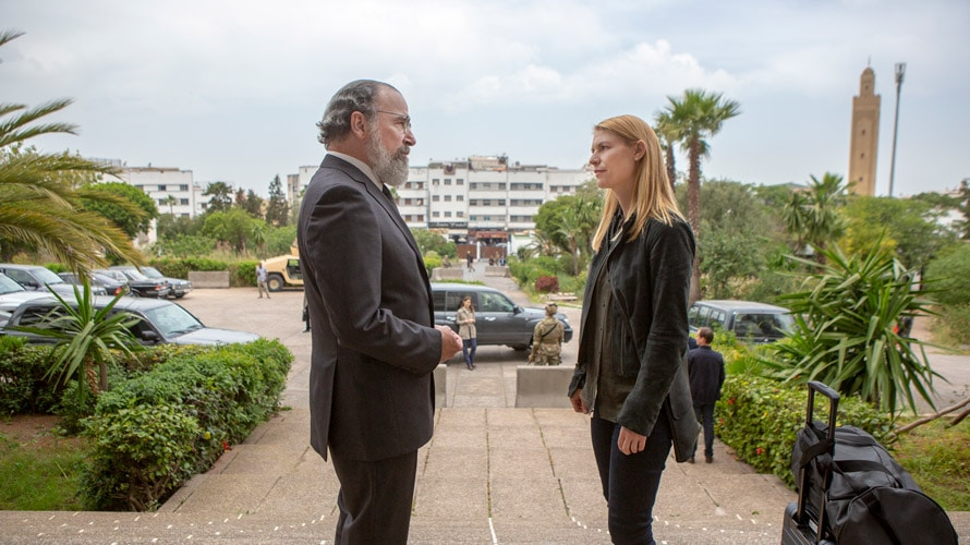 A scene from Homeland on Showtime