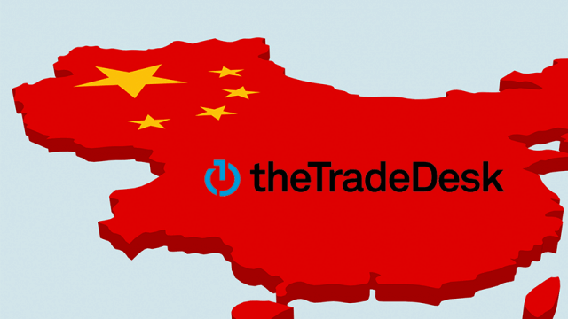 The Trade Desk logo on a map of China