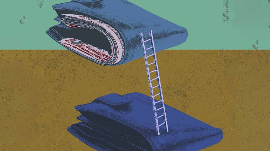 Image of two wallets connected by a ladder