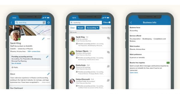 LinkedIn Adds Ways for Members to Find Service Providers or Freelancers for Projects