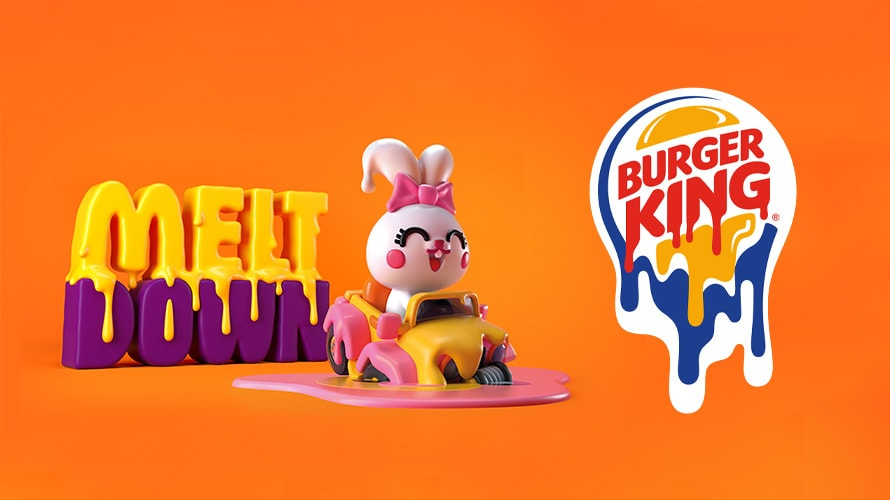 Burger king plastic toy and logo melting