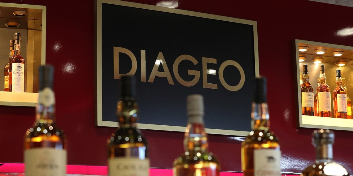 diageo spirits bottles