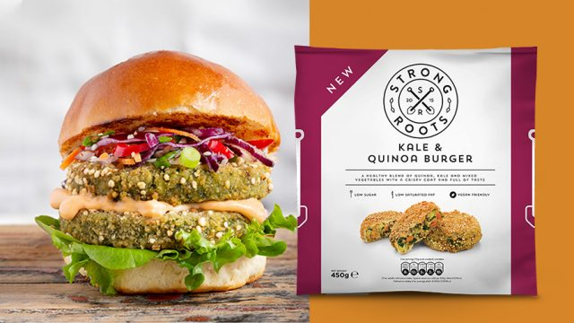 Strong Roots Kale and Quinoa burger