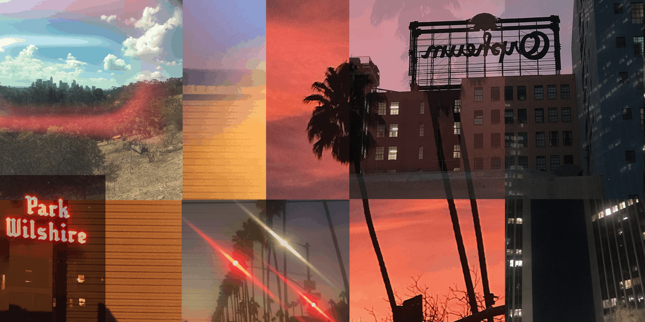 Collage of the Arts District in Los Angeles