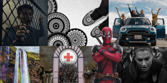 A collage of Adweek's Media Plan of the Year winners