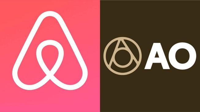 Airbnb and Atlas Obscura logos side by side