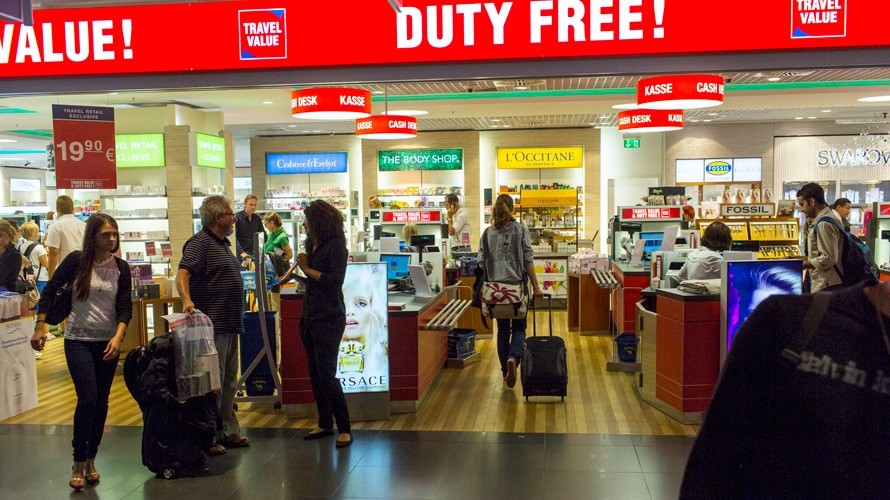 duty free store in an airport