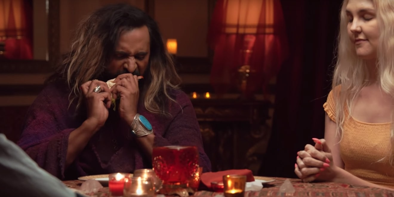 medium riz mizra channels dead people to give them a taste of burger king
