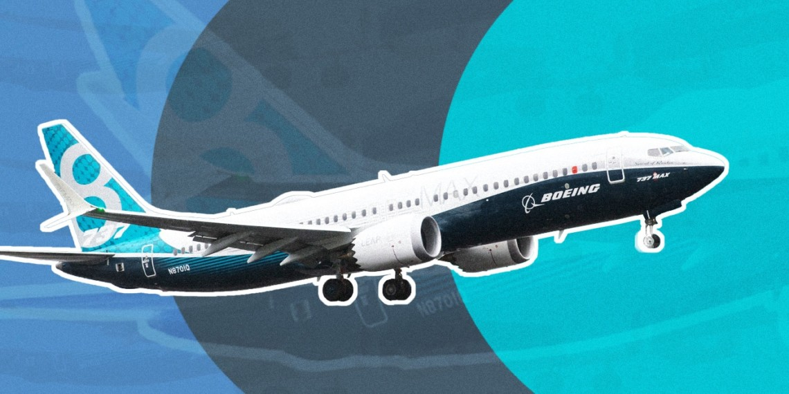 A Boeing 737 Max 8 airplane
