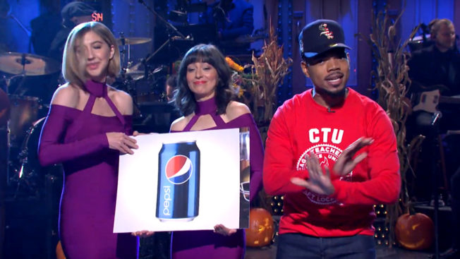 Chance the Rapper monologue cue cards at SNL