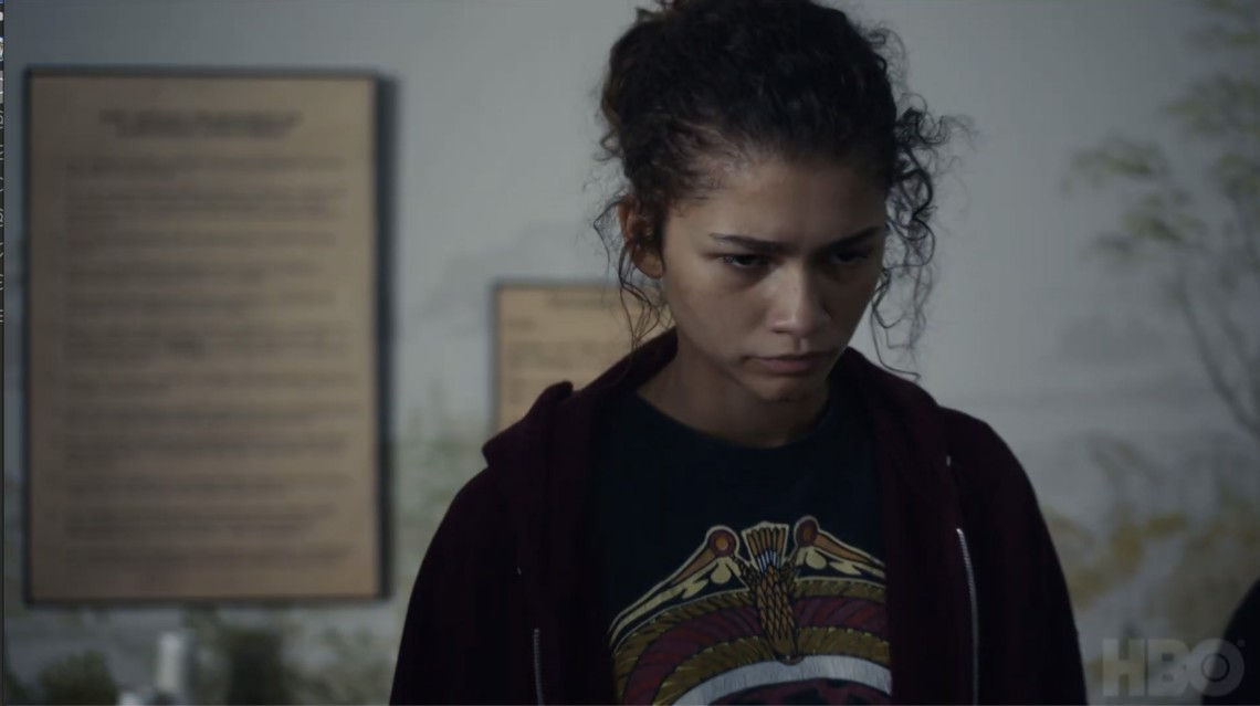 still from hbo show euphoria for it's ok mental health campaign