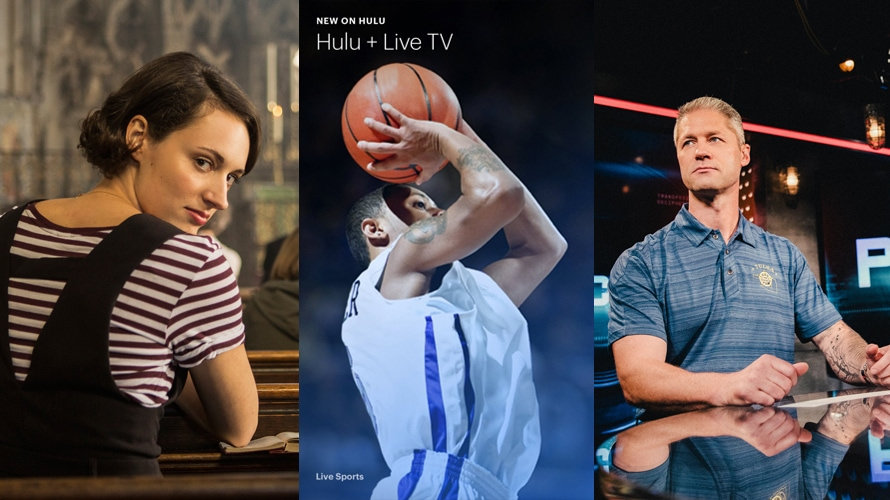 A collage of Adweek Hot List 2019 winners including Amazon's Fleabag, Hulu and A&E's Live PD