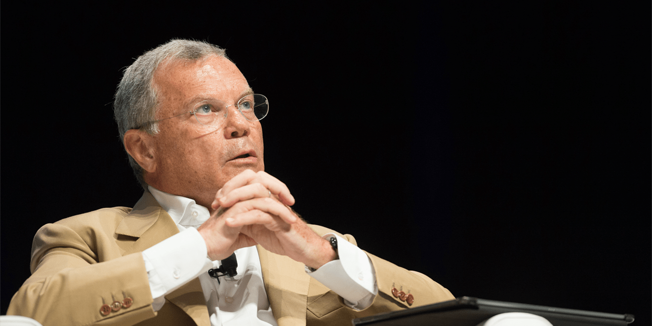 Sir Martin Sorrell talking