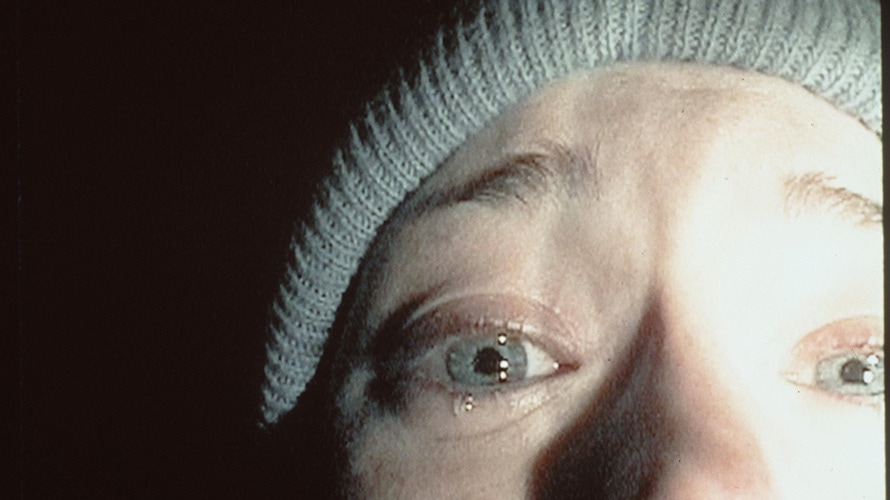 Close-up of a face featured in The Blair Witch Project