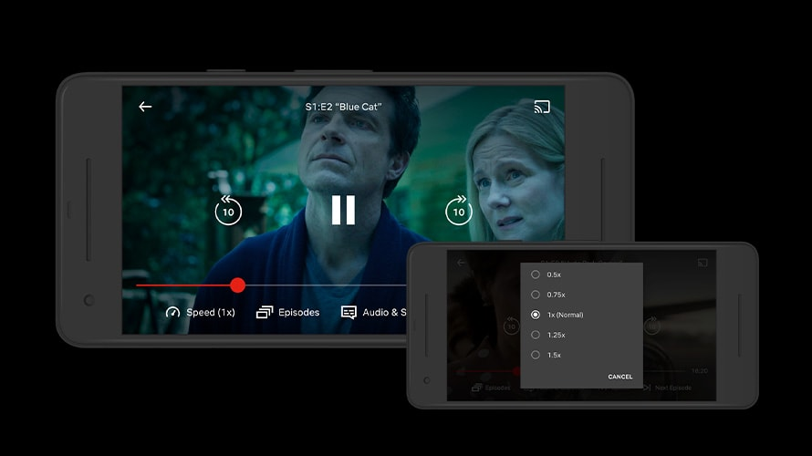 Phone showing Netflix speed times