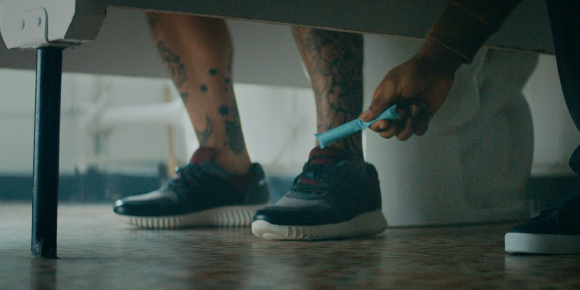In this Thinx ad, a man picks up a tampon he dropped.