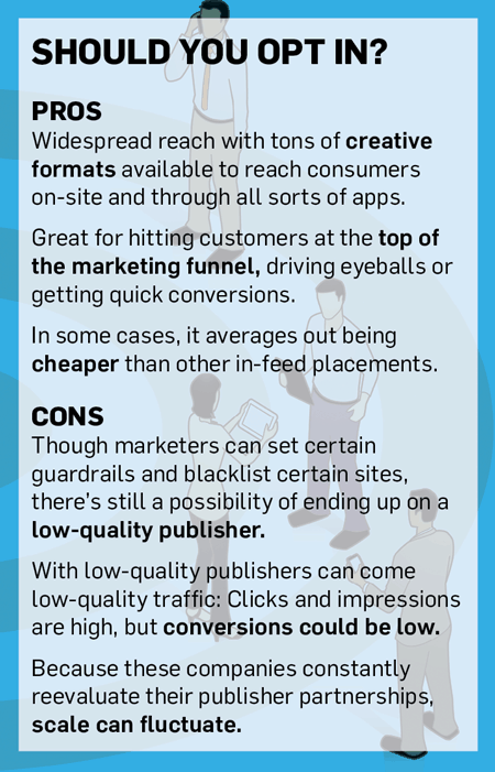 stats on whether or not it's worthwhile for a brand to use audience networks to grow