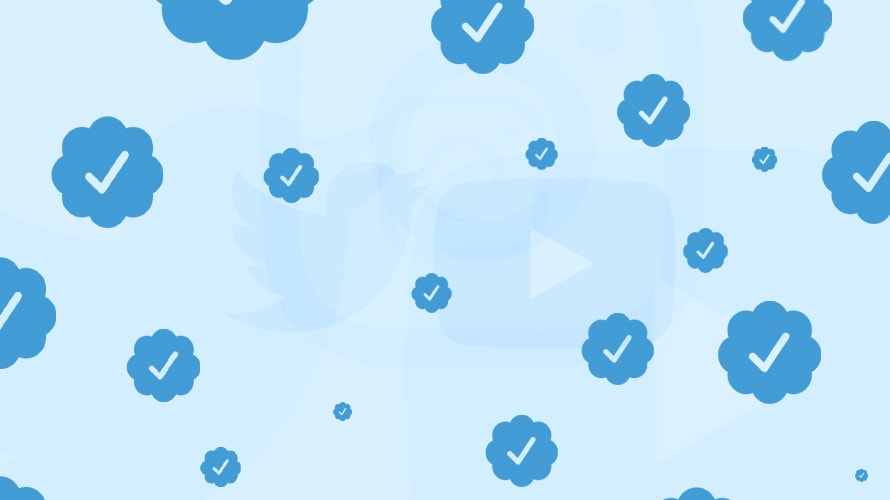 Twitter and YouTube logos with verification checkmarks