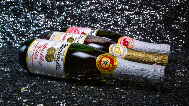 Americans love Martinelli's Sparkling Cider over the holidays.