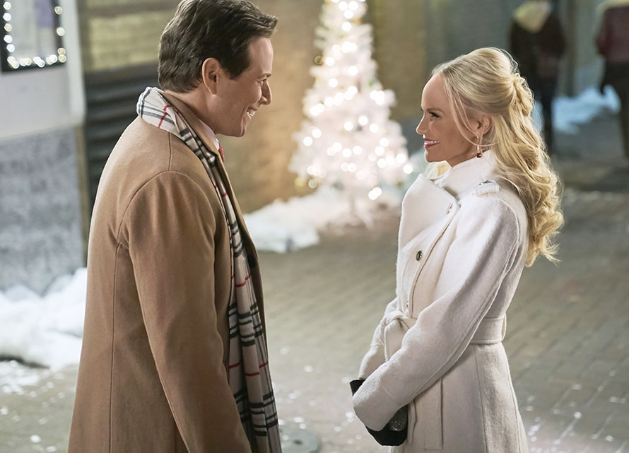 A still from the Hallmark movie A Christmas Love Story