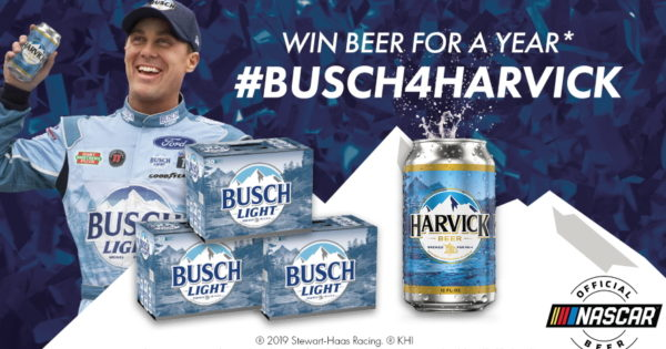 The Busch Beer Will Flow for Every Lap Kevin Harvick Leads Sunday