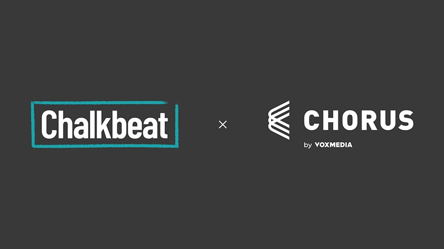 the chalkbeat and chorus logos side by side