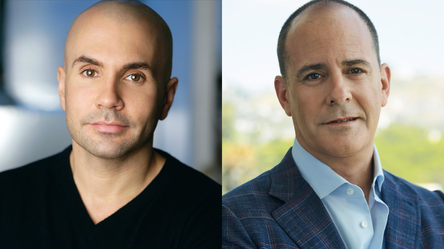 Side by side headshot of Chris McCarthy and David Nevins